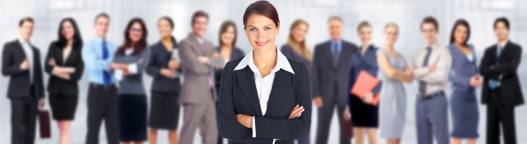 Business woman and group of workers people team.